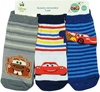 Calcetines Cars, pack de 3 (gris/blanco/azul a rayas)