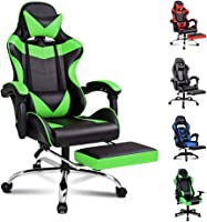 ALFORDSON Gaming Chair Racing Chair Executive Sport Ergonomic Office Chair with Footrest PU Leather Armrest Headrest...