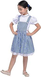 Áo quần dành cho bé gái – Girls Vintage 1950s Gingham Dress Little Cutie Jumper Look Short Sleeve Checkered Dress