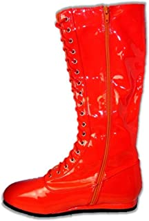 red wrestling boots