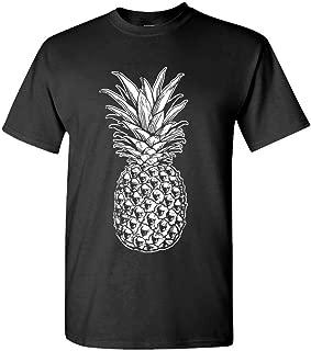 Skull Pineapple - Retro Style Hipster - Mens Cotton T-Shirt