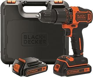 comprar comparacion Black+Decker BDCHD18KB-QW Taladro Percutor sin accesorios, 18 W, 18 V, Negro, Naranja, 10 mm