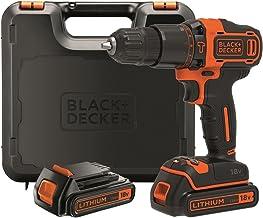 Black+Decker BDCHD18KB-QW Taladro Percutor sin accesorios, 18 W, 18 V, Negro, Naranja, 10 mm