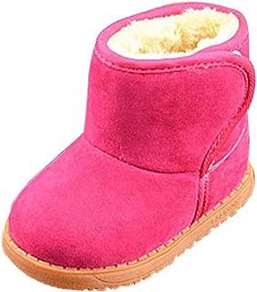 Voberry Baby Toddler Kids Children Girls Boys Winter Warm Boot Fur Lined Outdoor Snow Boots