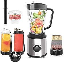 CLORIS Food Processor Blender Combo Vitamix Countertop Blender Frozen Drink Machine Food Processor Smoothie Coffee/Spice G...