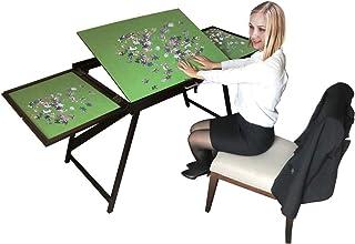 YAHAO Table de Puzzle en Bois pour 1500 Pièces avec Surface Antidérapante Inclinable,Planche Pliante Portable pour Jeux av...