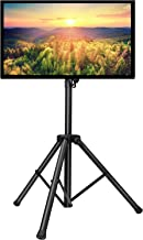 PERLESMITH TV Tripod Stand-Portable TV Stand for 23-55 Inch LED, LCD, OLED TVs-Height Adjustable Display Floor TV Stand with VESA 400x400mm, Holds up to 88lbs