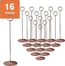 Urban Deco Place Card Holder Table Number Holder Wedding Card Holder 12 inch Set of 16 for Restaurants Weddings Banquets (12