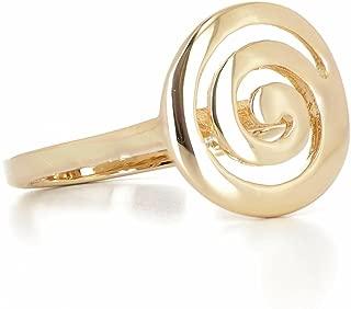 18 carats - Argent 925 Bague femme Plaqu/é Or 750//000 ISADY C/élia Gold Triple anneau Alliance Eternit/é Designer