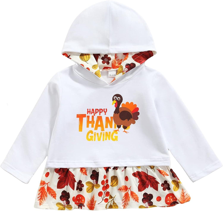 Inevnen Girls Dealing full price reduction cheap Turkey Print Hooded Outfi Thanksgiving Sweatshirt