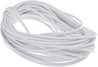 COTOWIN 1/8-Inch (3 mm) by 10-Yard White Heavy Round Elastic Cord (Cut)