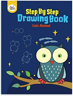 JarMelo Cute Animal Step by Step Drawing Book