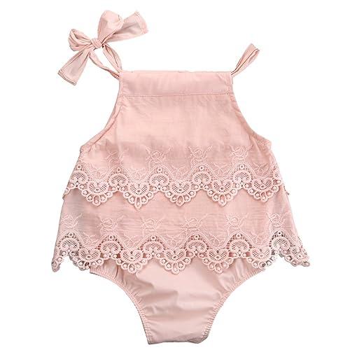 68269060471a Newborn Baby Girl Infant Romper Jumpsuit Bodysuit Tutu Lace Dress Clothes  Outfit Pink