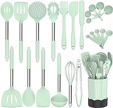 Silicone Cooking Utensil Set, Fungun Non-stick Kitchen Utensil 24 Pcs Cooking Utensils Set, Heat Resistant Cookware, Silic...