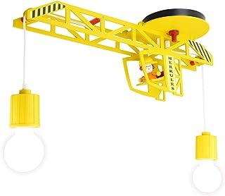 Elobra lampa sufitowa do sypialni dziecięcej projekt żurawia żółty