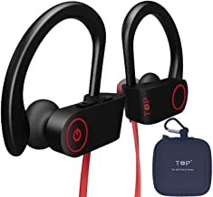 TOP Bluetooth Headphones, Best Wireless Earbuds IPX7 Waterproof Sports Earphones w/Mic HD Stereo Sweatproof in-Ear Earbuds Gym Running Workout 8 Hour Battery Noise Cancelling Headsets