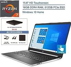 "$649 » 2020 HP 15.6"" Touchscreen Laptop Computer, Quad-Core AMD Ryzen 7 3700U Beat i7-7500U up to 4.0GHz, 16GB DDR4 RAM, 512GB PCIe SSD, HDMI, Silver, Windows 10 Home + EST External DVD+ Accessories"
