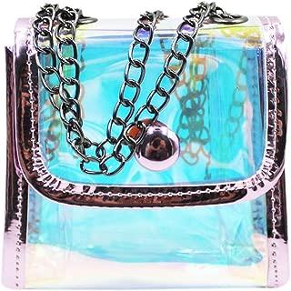 C.C-US Kids Toddlers Small Crossbody Purse Shoulder Bag Glitter Hologram Satchel Wallet for Boys Girls