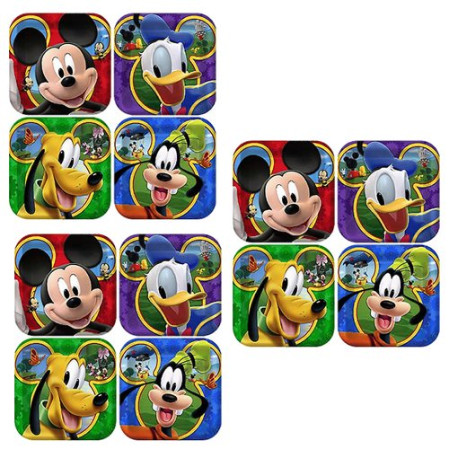 Disney Mickey Mouse Clubhouse Playtime Party Cake/Dessert Plates - 24 Guests