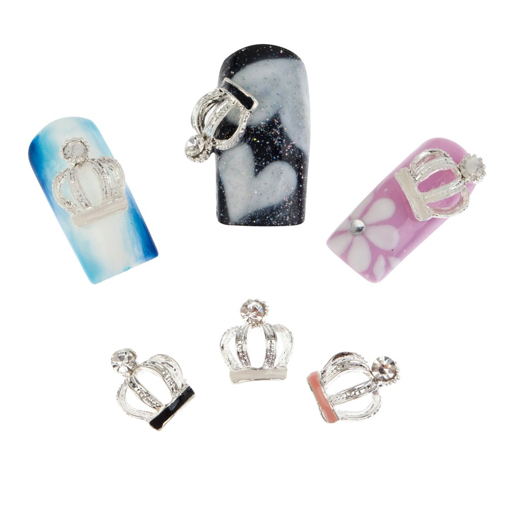 Attention brand Fabulous 3D Nail Art At the price Decorations Set Crowns pcs With Black of12