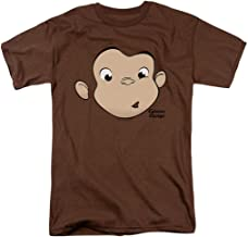 Popfunk Curious George Face Adult T Shirt & Stickers