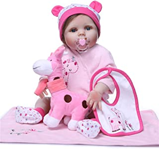 "Reborn Baby Doll, 100% Handmade Soft Silicone 22"" /55cm Lifelike Newborn Doll for Children Xmas Gift-RB174"