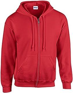 Gildan mens Heavy Blend 8 oz. 50/50 Full-Zip Hood(G186)-RED-5XL