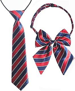 Aimeely Classic Children School Uniform Adjustable Bow Tie And Necktie Set