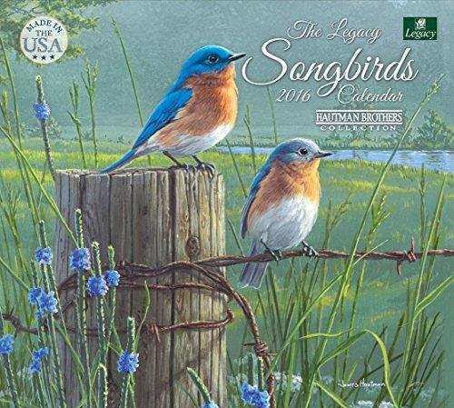 Legacy Publishing Group 2016 Wall Calendar, Songbirds (WCA21344)
