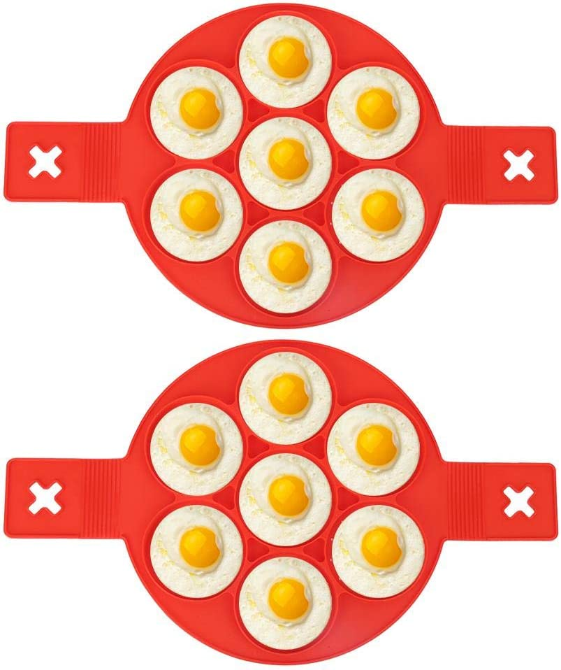 2 Pcs Eggs Max 57% OFF Mold Food-grade Pan Non-Stick Treatment Ranking integrated 1st place Silicone