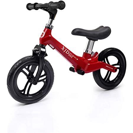 XJD ペダルなし自転車 幼児 子供用 バランスバイク 超軽量 マグネシウム合金製 キックバイク トレーニングバイク 高さ調整可 2歳~5歳対象 ノーパンクタイヤ 組み立て簡単 (レッド)