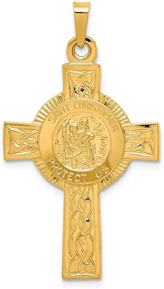 Roy Rose Jewelry 14K Ranking TOP14 Yellow Gold Christopher St. Cross Japan's largest assortment w Medal P