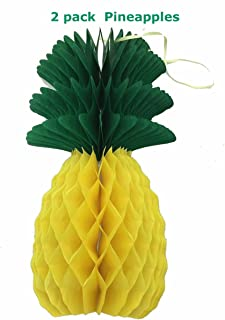 Alemon Hawaiian Luau Theme Pineapple Party Supplies Decoration, 8 Inch (2 Pack)