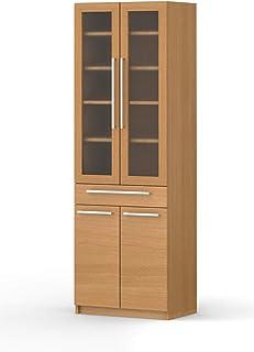 パモウナ 食器棚YC アイダホオーク 幅60×高さ180×奥行40 日本製 YC-S600K