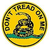 Gadsten Flag Don't Tread Small Round Reflective Decal Sticker