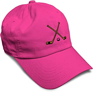Custom Soft Baseball Cap Hockey Sticks Embroidery Dad Hats for Men & Women