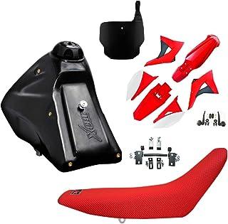 Kit Completo Modelo CRF 230 para adaptação, Tanque,Banco, Kit Plastico,Kit de fixação (Vermelha/Branco)