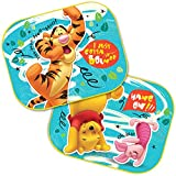 2 x Car Window Sun Shades - Universal Baby Car Sunshades - Blocks Harmful UV Rays Sun Glare Heat - Protection for Your Kids (Winnie the Pooh)