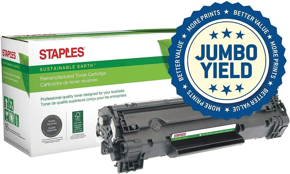 STAPLES Remanufactured Toner Cartridge 春の新作続々 Replacement for 78A 卓抜 HP No