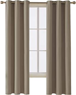 Deconovo Room Darkening Thermal Insulated Blackout Grommet Window Curtain for Bedroom, Khaki,42x84-inch,1 Panel