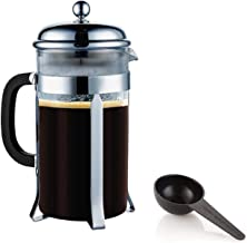 Other French Press Coffee Maker 8 Cup 1 liter 34 oz 304 Grade Stainless Steel, Clear, 1 Year Brand Warranty