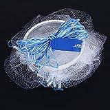 VGEBY1 Red de Pesca del Tiro de la Mano, Red Americana de la Malla de la Pesca del Tiro de la Mano del Tiro del Estilo del monofilamento de Nylon al...