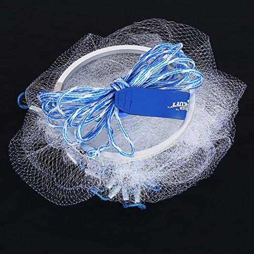 2,4 m 0,7 Angeln Cast Net, Angeln Fischernetz, Zoll kleine Mesh Outdoor Nylon Hand werfen Fischernetz mit 12 m Hand String für Angler