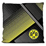 Borussia Dortmund BVB Kissen mit Punkten 40x40cm, Baumwolle, schwarz/gelb/Grau, 40 x 40 x 5 cm, 1...