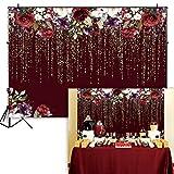 alicefen 250 * 180 cm Fond de Vinyle Vinyle Vin Rouge Fond de Mur de Fleur de Fleur de la Photographie pour Enfants décoration Photo Studio Photographie Fond de Photographie