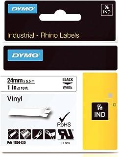 Dymo 乙烯胶带 Rhino 标签 1 英寸 白色黑色