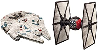 Star Wars Battle Pack Model Kit with 15 piece First Order Special Forces TIE Fighter and 19 piece Millennium Falcon