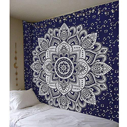 KHKJ Tapiz de Mandala Indio para Colgar en la Pared, tapices de Almohadilla para Dormir Bohemia, Playa de Arena, Toalla, Alfombra, Manta, Tienda de campaña A11, 200x150cm
