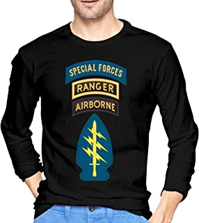 Special Forces with Airborne and Ranger Tab Patch Men's Long-Sleeve T-Shirt