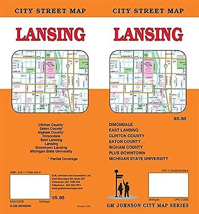 Lansing, Michigan Street Map: GM Johnson: 9781770684829: Amazon.com ...